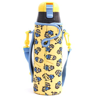 Lunch goods character direct drink stainless steel elementary school kindergarten primary schoolchild present entering a kindergarten entrance to school minion minion goods su501 super light weight with one push direct bottle cover