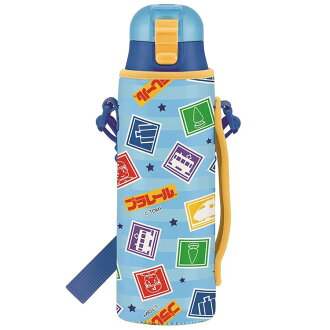 Cool stainless steel entering a kindergarten entrance to school su501 sse-1 with the cover with the cover for the child with the belt with the stainless steel bottle 580 ml Pla-rail TAKARA TOMY train water bottle direct drink string with the cover