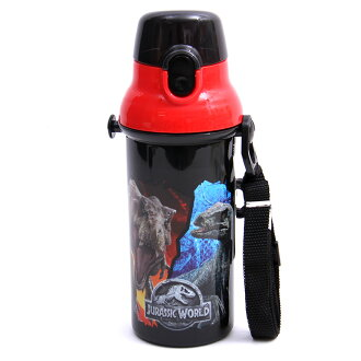 Dishwasher-adaptive direct drink plastic one-touch bottle 480 ml lunch goods character monster dinosaur lunch lunch drink sports kids child kindergarten primary schoolchild holiday making outing heat stroke measures su301