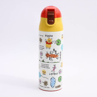 Stainless steel bottle character Disney Winnie-the-Pooh water bottle stainless steel bottle child child infant outing drink present for the super light weight key milk