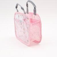 【バッグ花】スパバッグ【フラワープレアリーピンク/】メッシュ水辺風呂ジム温泉プールピンク旅行お出かけ持ち運びプレゼント