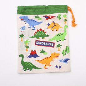 【コップ袋 DINOSAURS】 コップ袋 【DINOSAURS/KB62】 キャラクター DINOSAURS 恐竜 コップ袋 巾着 子供 子ども 幼稚園 飲み物 プレゼント