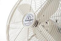 【扇風機クラシカル】レトロリビングファン「ノスタルジック」【アイボリー・RT-T1824IV/サックス・RT-T1824SX/アッシュブルー・RT-T1824BL】【送料無料】懐かしいアンティークデスク棚テーブル型風量調節首振り上下角度調整ファンスリーアップThree-up