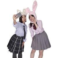 パステルバニーかぶりもの【ホワイト/ピンク/ブルー/ラベンダー】