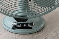 【扇風機クラシカル】レトロテーブルファン「ノスタルジック」【アイボリー・RT-T1823IV/サックス・RT-T1823SX/アッシュブルー・RT-T1823BL】懐かしいアンティークデスク棚テーブル型風量調節首振り上下角度調整ファンスリーアップThree-up