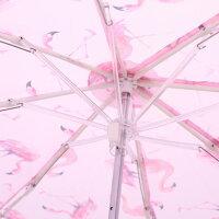 【晴雨兼用傘フラミンゴ】折りたたみ傘(UV加工仕様)【フラミンゴ/UBO1】UVカット紫外線対策熱中症予防折畳み傘雨傘日傘日よけ傘雨晴兼用晴雨兼用便利可愛いかわいいおしゃれオシャレ女性女子プレゼントギフトスケーター