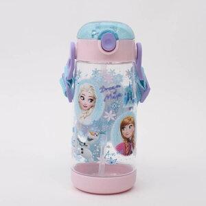 【水筒 アナと雪の女王】ワンプッシュストローボトル【ア...