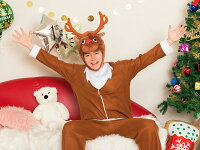 【クリスマスコスプレ】XMコミカルトナカイ【送料無料】衣装仮装パーティーイベントコスチューム出し物歓迎会送迎会