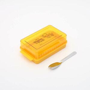 【バターカッター プーさん】定量カッティング付バターケース【POOH honey/BTG1】バターカッター フタ付き ふた付き バター切り分け バター 入れ物 保存ケース バターナイフ付き 台所 便利グッ