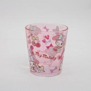 【コップ マイメロディ】アクリルコップ【MM おやつタイム/KSA4】軽い 軽量 割れにくい 丈夫 クリア 透明 プラスチック アクリル製 コップ カップ タンブラー グラス 飲み物 ジュース かわい