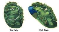 【ゴルフコースをマウスパッドに!?】REALITYgolfcoursepad【1番ホール/18番ホール】ゴルフマウスパッドおもしろパソコングッズおもしろグッズプレゼント景品ギフト