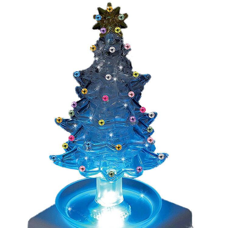 【立体パズル クリスマスツリー】 ビバリー 69ピース クリスタルパズル クリスタル・ツリー・クリスタル LEDライトセット 【送料無料】 インテリア イルミネーション プレゼント 新生活 新元号 スプリングキャンペーン
