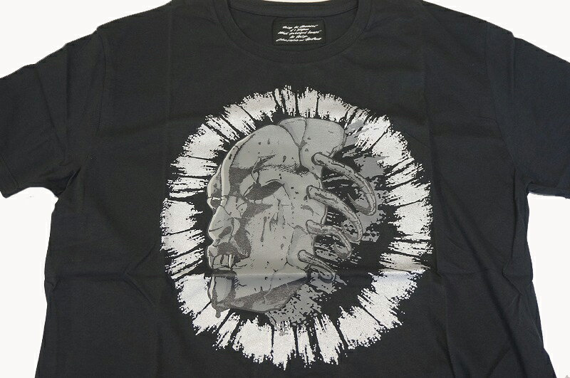 ジョジョの奇妙な冒険×ultra-violence (ウルトラバイオレンス)覚醒石仮面 Tシャツ 黒(L)/JOJO映画