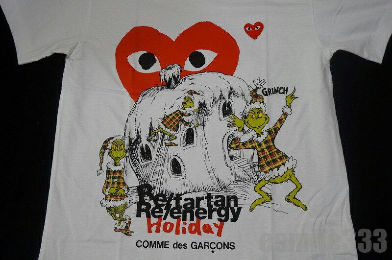 2017 COMME des GARCON(コムデギャルソン)PLAY(プレイ)HOLIDAY PLAY(プレイ) Tシャツ(M)/GRINCH/クリスマス