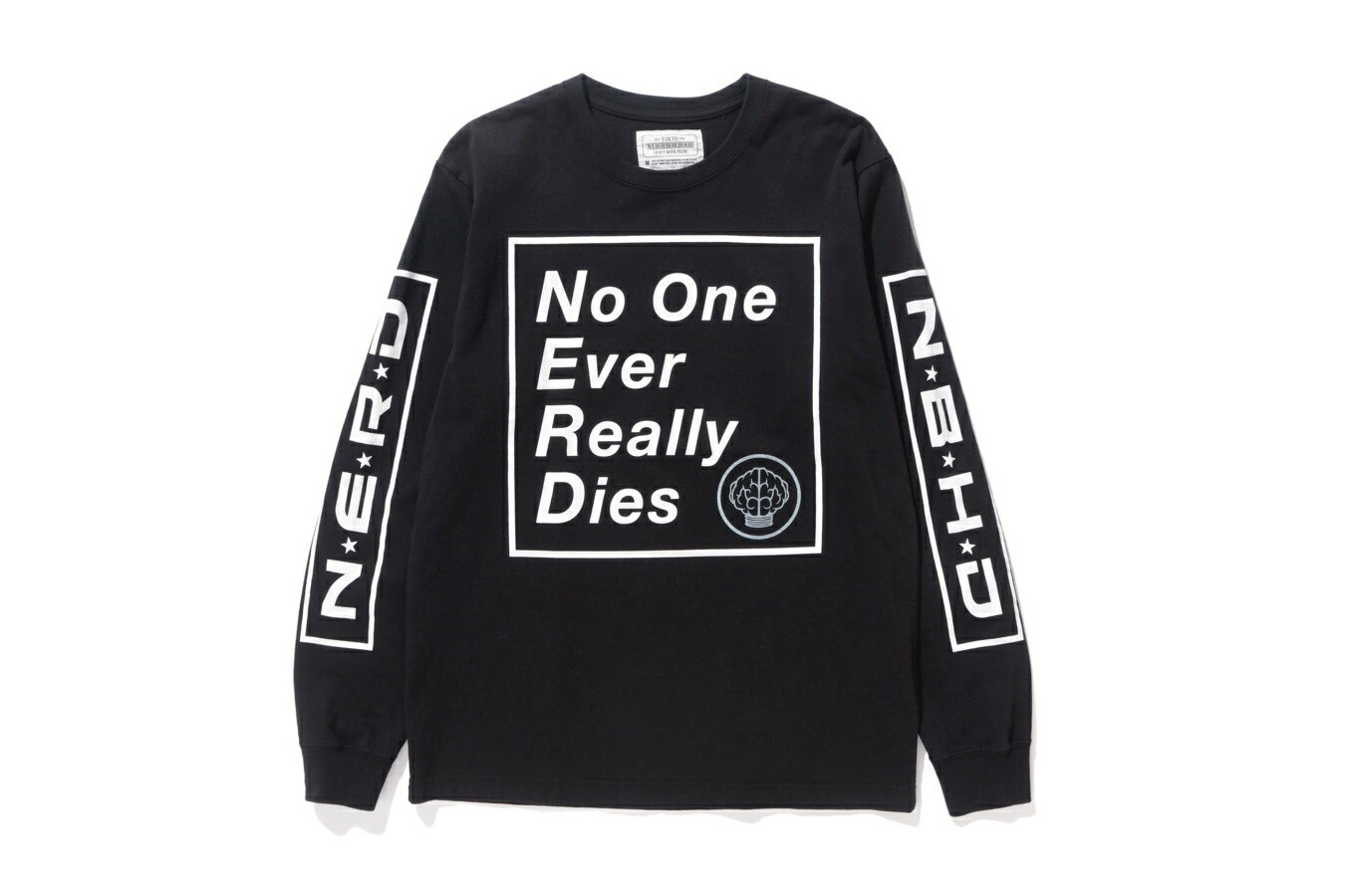 2018 neighborhood × n.e.r.d ロンT黒 XL/ネイバーフッド nerd ナード ファレル Tシャツ