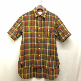 【H.UNIT】( エイチユニット)「Madras check work short sleeve shirt」