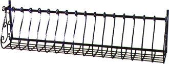 花木盒墙装饰铁杆式的furawabokkusutorese 1868墙陈列窗扶手铝铸件外部防止犯罪