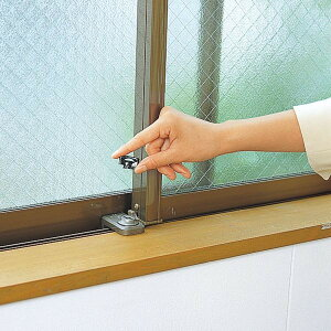 防犯窓ロック防犯グッズ窓のカギ鍵ウインドロックブロンズカギ付き上枠・下枠兼用サッシ用補助錠