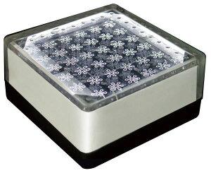 ソーラーライト 屋外 埋め込み LED ソーラーブリック SBH100FWH ホワイト 白 角型 防水 防湿 W96×H96×D45mm 屋外照明 アプローチライト 庭園灯 外灯 誘導灯 ガーデンライト 庭 外構 駐車場 照明 ライ