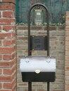 ポスト郵便受けレトロ機能門柱郵便ポストデザインポスト照明インターホンロートアイアン+銅製ポスト1型レトロ機能門柱1