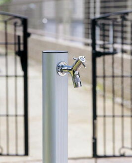 Standing water faucet water taps column gardening aluminum ramo faucets plated with aluminum water stopper silver 900 staff garden water tap pillar DIY
