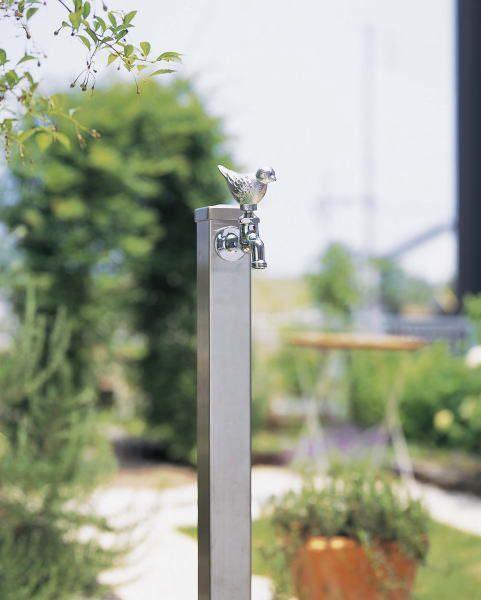 Standing Water Faucet Pillar Gardening Stainless Gardening Stainless Steel  Vertical Water Faucet (garden Water Tap Pillar) Water Garden Water Taps  Column ...