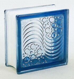 ブロックガラス 塀 壁飾りガラスブロック オーシャンビューー95(JB2-19505)ライトブルー6個入り 外壁 外構工事
