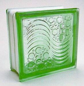 ブロックガラス 塀 壁飾りガラスブロック オーシャンビューー95(JB2-19514)グリーン6個入り 外壁 外構工事