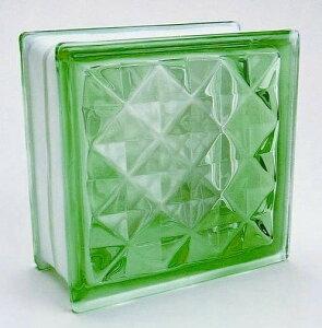 ブロックガラス 塀 壁飾りガラスブロック ダイヤモンドー95(JB2-19515)グリーン6個入り 外壁 外構工事