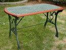 ガーデンテーブルカフェテーブルクロステーブルアイアン家具ガーデニングテーブルガーデンファニチャー