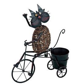 プランタースタンド フラワースタンド オブジェ アイアン プランター 植木鉢 アニマルポット 自転車 幅500×高さ600×奥行150 プランターカバー 鉢カバー ガーデニング 園芸用品 ギフト 贈り物