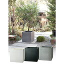プランター 大型 植木鉢 長方形 ファイバークレイ 鉢 おしゃれ ベータ 幅450×奥行450×高さ450 ホワイト ブラック グ…