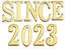 表札 真鍮切文字 30シリーズ SINCE2020セット商品 シンプル表札 店舗 看板 外構工事 新築祝いに