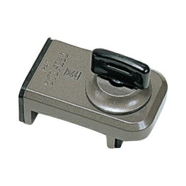 防犯 窓ロック 防犯グッズ 窓のカギ 鍵 ウインドロック ブロンズ カギ付き 上枠・下枠兼用 サッシ用補助錠