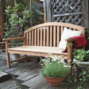 【3000円OFFクーポンあり】 ベンチ 木製 屋外 おしゃれ ガーデンチェア ガーデンベンチ レインボーベンチ 1550×910×630mm 完成品 チーク ガーデン家具 ガーデンファニチャー 大型 高級 上質 上品
