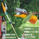 高枝切りバサミ 剪定鋏 園芸用品 高枝鋏 ポールスリム3段式 アンビル刃 NO336 専用ノコギリ刃付き ガーデニング雑貨 …