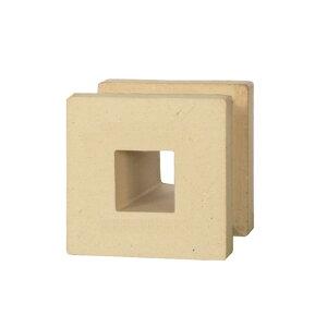 ブロック 塀 アプローチ エントランス せっき質無釉ブロック ポーラスブロック100 ハナワ スクエアB(配筋溝あり・4本角溝) 1個単位 屋外壁 diy