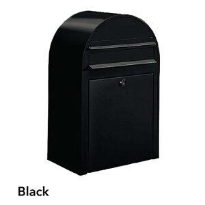 ポスト 郵便受け 壁掛け郵便ポスト デザインポスト ボビ ブラック 前入れ前出し 鍵付き スタンド対応可 集合住宅対応