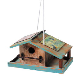 バードハウス 鳥小屋 木製 80917 ガーデニング雑貨 巣箱 バード鳥 野鳥 バードウォッチング 庭 かわいい