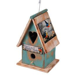 バードハウス 鳥小屋 木製 80918 ガーデニング雑貨 巣箱 バード鳥 野鳥 バードウォッチング 庭 かわいい