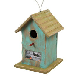 バードハウス 鳥小屋 木製 80922 ガーデニング雑貨 巣箱 バード鳥 野鳥 バードウォッチング 庭 かわいい