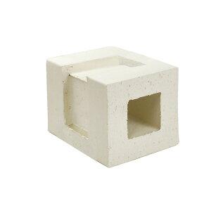 ブロック 塀 アプローチ エントランス レンガ セラボックス 90 コーナー ホワイト (配筋溝あり・2本溝) 1個単位 屋外壁 diy