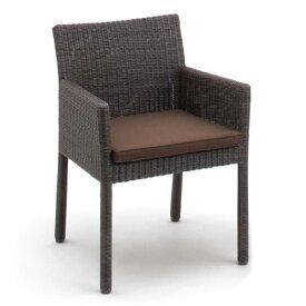 ガーデンチェア 人工ラタン 椅子 Loom garden ロムガーデン 庭座 完成品 スクエアチェアー シートパッド1枚付き 庭 ベランダ テラス ガーデンファニチャー 高級 おしゃれ