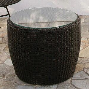 ガーデン テーブル サイドテーブル 屋外用 Loom garden ロムガーデン 庭座 完成品 人工ラタン ガーデンファニチャー 庭 ベランダ テラス ガーデン 高級 おしゃれ