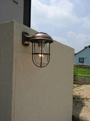 玄関照明玄関照明屋外門柱灯門灯外灯ポーチライトポーチ灯屋外ブラケットマリンライトBR5000ANCLクリアガラスアンティーク風照明レトロ照明器具おしゃれE26白熱電球40W