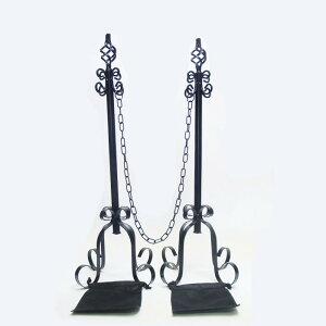 アイアンチェーンスタンド本体2本+鎖1本+エストアオリジナル重り用袋2枚付きセット