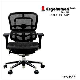エルゴヒューマン ベーシック ロータイプ EH-LAM Ergohumn Basic パーソナルチェア デスクチェア 座り心地 福井県 家具