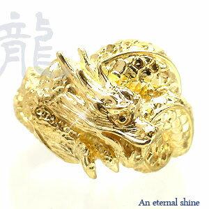 龍 辰 竜 干支 ドラゴン リング 指輪 k18ゴールド k18WG k18PG k18YG アクセ アクセサリー【送料無料】【コンビニ受取対応商品】