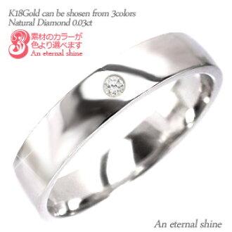 By Diamond Ring 18 Karat Gold K M 40mm 003 Ct Rings Original Solid Wedding Mens Womens Unisex Pinky Finger Popular No1