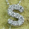 "Kyg ""S"" diamond alphabet K18 gold jewelry name initials name"